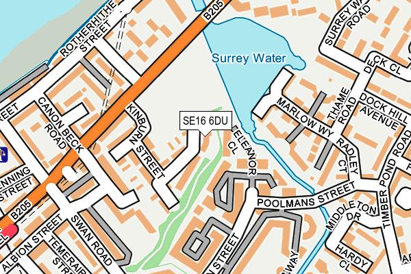SE16 6DU map - OS OpenMap – Local (Ordnance Survey)