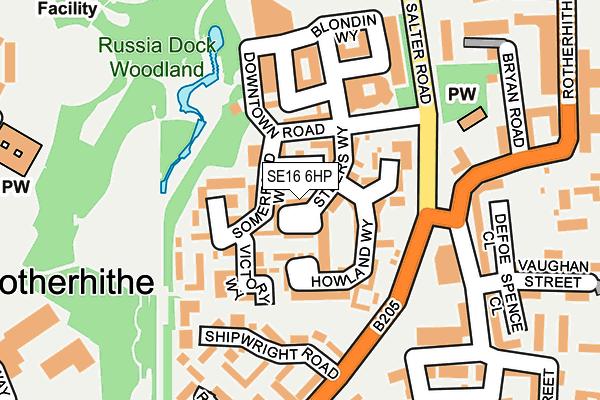 SE16 6HP map - OS OpenMap – Local (Ordnance Survey)