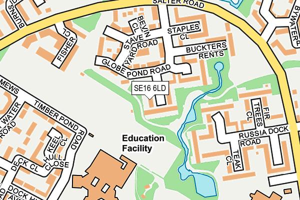 SE16 6LD map - OS OpenMap – Local (Ordnance Survey)
