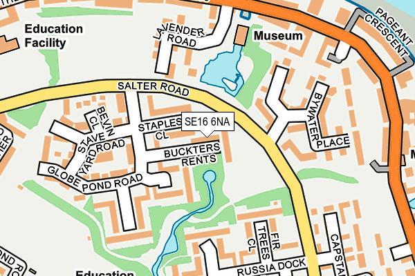 SE16 6NA map - OS OpenMap – Local (Ordnance Survey)