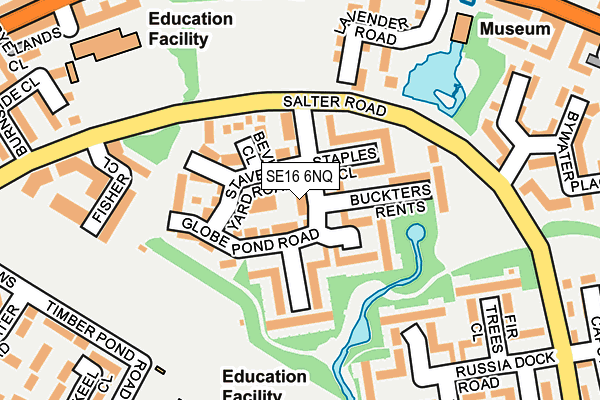 SE16 6NQ map - OS OpenMap – Local (Ordnance Survey)