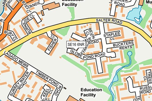 SE16 6NR map - OS OpenMap – Local (Ordnance Survey)