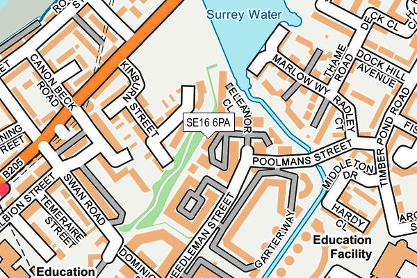 SE16 6PA map - OS OpenMap – Local (Ordnance Survey)