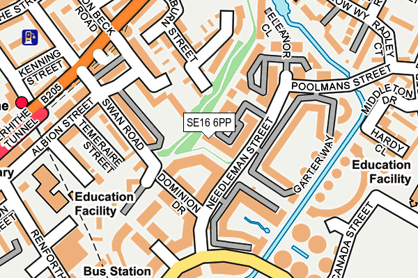 SE16 6PP map - OS OpenMap – Local (Ordnance Survey)