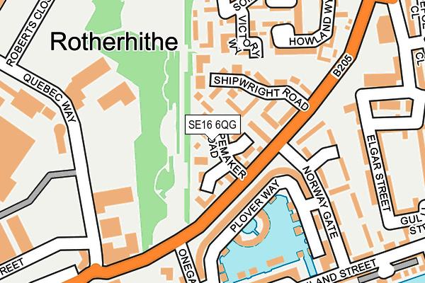 SE16 6QG map - OS OpenMap – Local (Ordnance Survey)