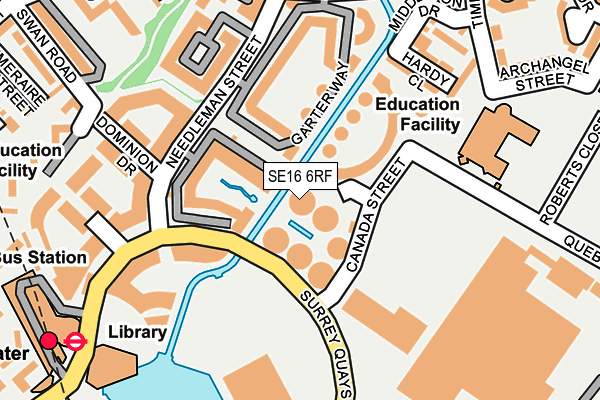 SE16 6RF map - OS OpenMap – Local (Ordnance Survey)
