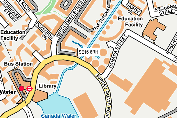 SE16 6RH map - OS OpenMap – Local (Ordnance Survey)