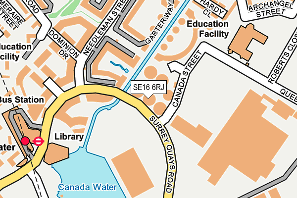 SE16 6RJ map - OS OpenMap – Local (Ordnance Survey)