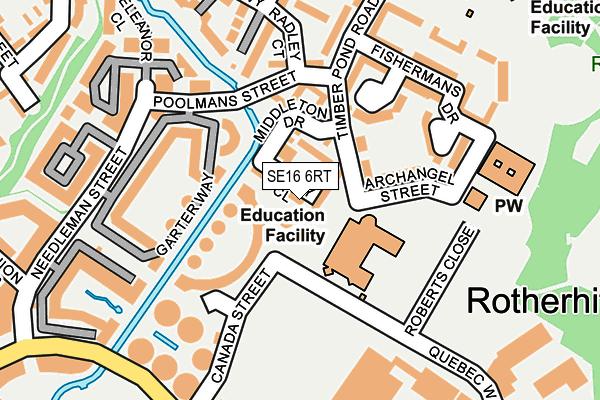 SE16 6RT map - OS OpenMap – Local (Ordnance Survey)
