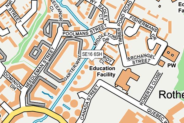 SE16 6SH map - OS OpenMap – Local (Ordnance Survey)