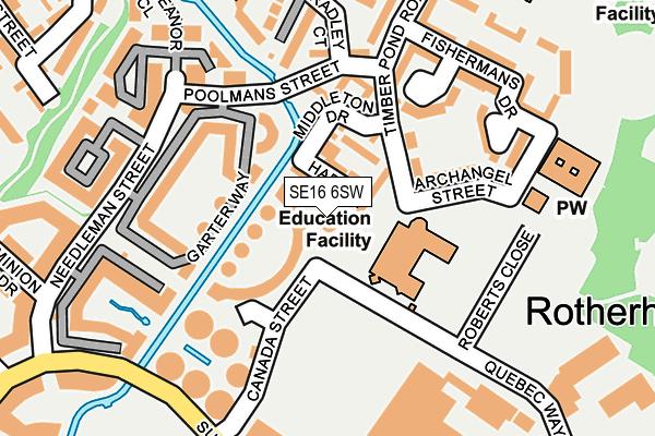 SE16 6SW map - OS OpenMap – Local (Ordnance Survey)