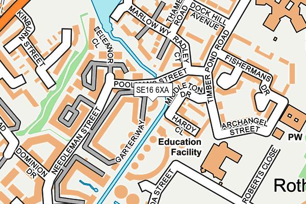 SE16 6XA map - OS OpenMap – Local (Ordnance Survey)