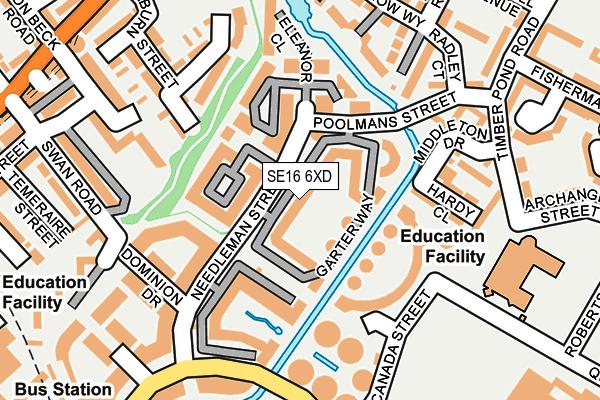 SE16 6XD map - OS OpenMap – Local (Ordnance Survey)