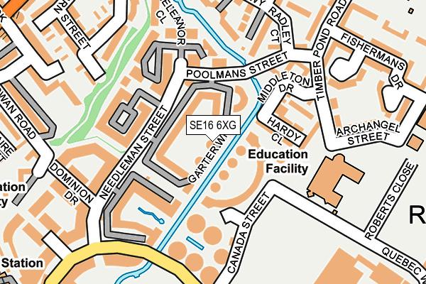 SE16 6XG map - OS OpenMap – Local (Ordnance Survey)