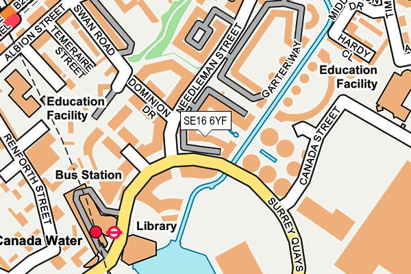 SE16 6YF map - OS OpenMap – Local (Ordnance Survey)
