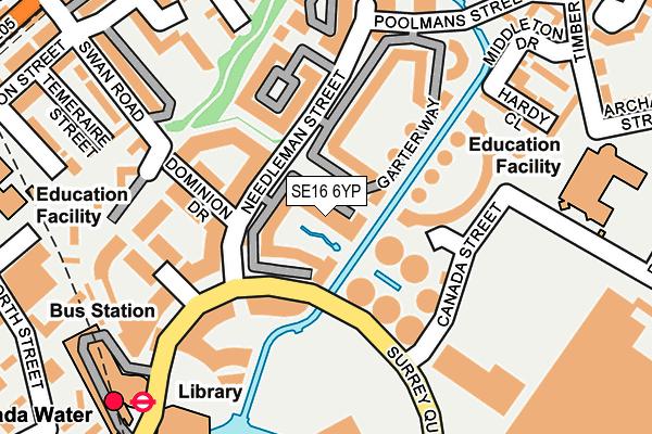 SE16 6YP map - OS OpenMap – Local (Ordnance Survey)