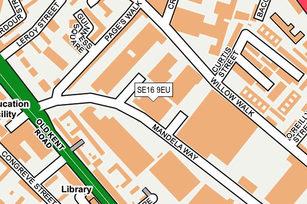 SE16 9EU map - OS OpenMap – Local (Ordnance Survey)