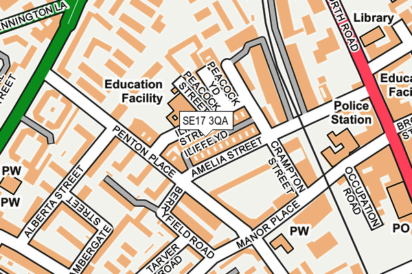 Map of GIRLS ABOUT PECKHAM LIMITED at local scale