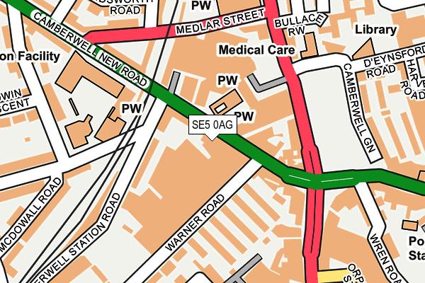 SE5 0AG map - OS OpenMap – Local (Ordnance Survey)