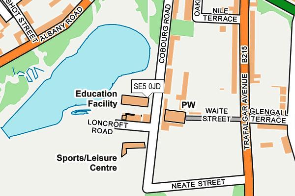 SE5 0JD map - OS OpenMap – Local (Ordnance Survey)