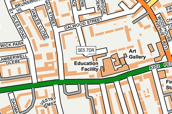 SE5 7DR map - OS OpenMap – Local (Ordnance Survey)