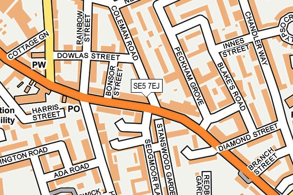 SE5 7EJ map - OS OpenMap – Local (Ordnance Survey)