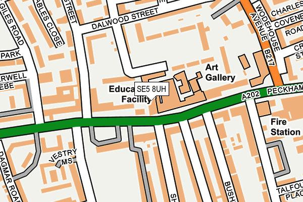 SE5 8UH map - OS OpenMap – Local (Ordnance Survey)