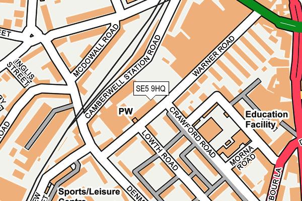 SE5 9HQ map - OS OpenMap – Local (Ordnance Survey)
