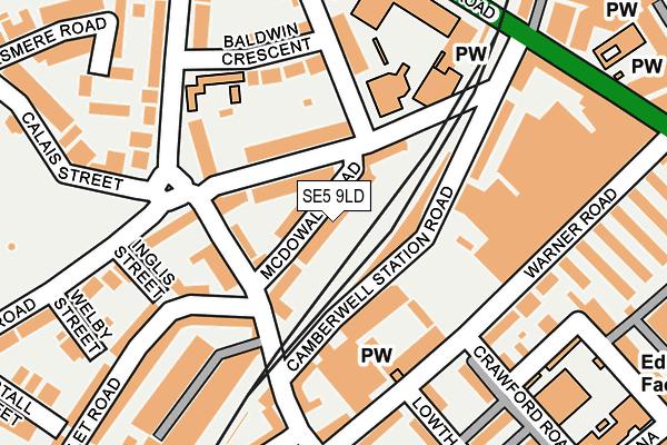 SE5 9LD map - OS OpenMap – Local (Ordnance Survey)