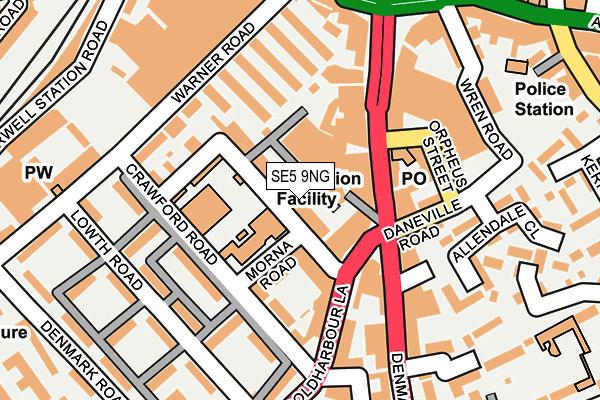 SE5 9NG map - OS OpenMap – Local (Ordnance Survey)