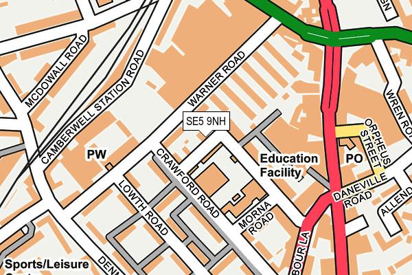 SE5 9NH map - OS OpenMap – Local (Ordnance Survey)