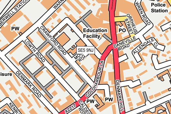 SE5 9NJ map - OS OpenMap – Local (Ordnance Survey)
