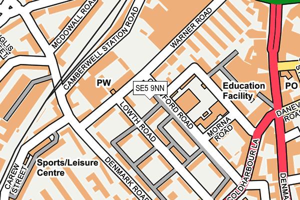 SE5 9NN map - OS OpenMap – Local (Ordnance Survey)