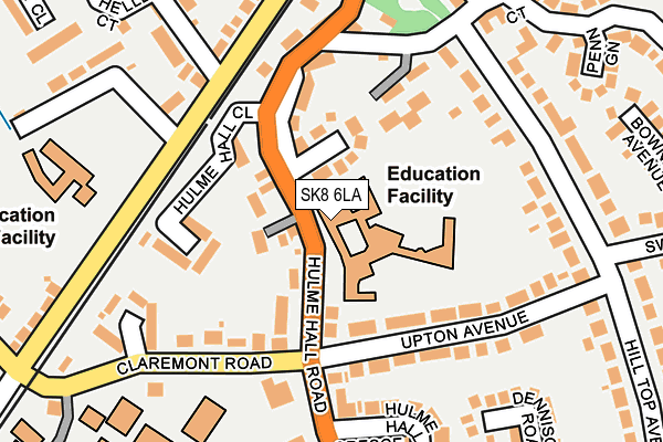 SK8 6LA map - OS OpenMap – Local (Ordnance Survey)