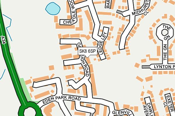 SK8 6SP map - OS OpenMap – Local (Ordnance Survey)