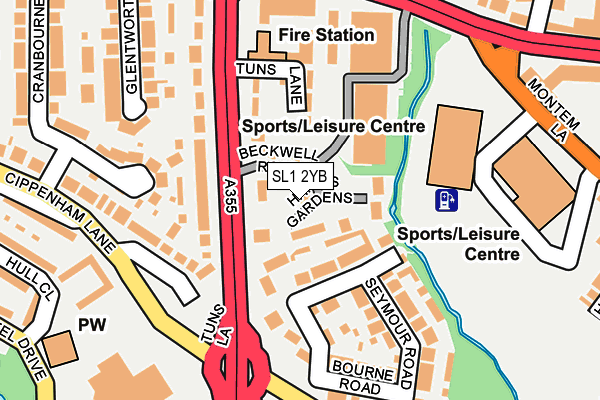 Map of SLOUGH TRAVEL LTD at local scale
