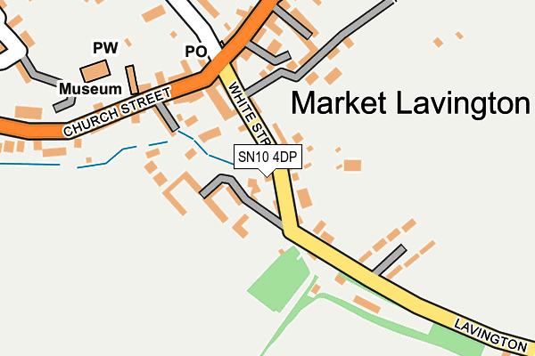 Map of MARKET LAVINGTON (WHITE HORSE) MANAGEMENT LIMITED at local scale