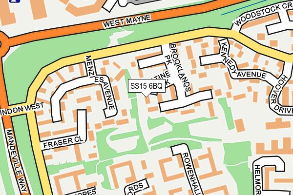 SS15 6BQ map - OS OpenMap – Local (Ordnance Survey)