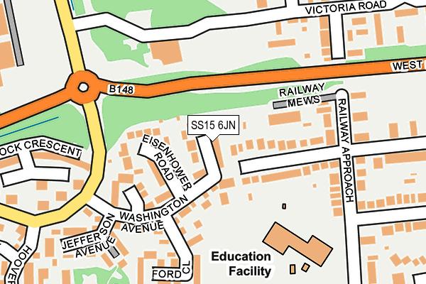 SS15 6JN map - OS OpenMap – Local (Ordnance Survey)