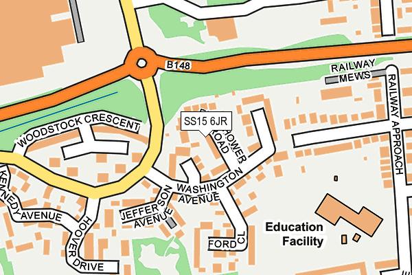 SS15 6JR map - OS OpenMap – Local (Ordnance Survey)
