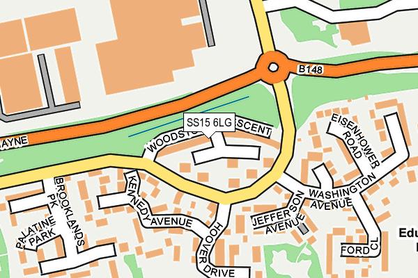 SS15 6LG map - OS OpenMap – Local (Ordnance Survey)