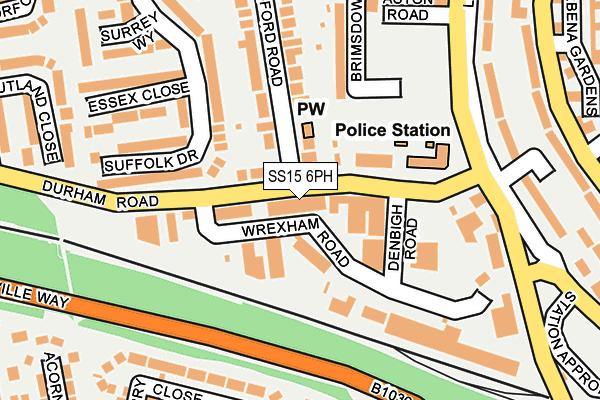 SS15 6PH map - OS OpenMap – Local (Ordnance Survey)