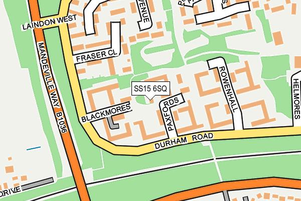 SS15 6SQ map - OS OpenMap – Local (Ordnance Survey)