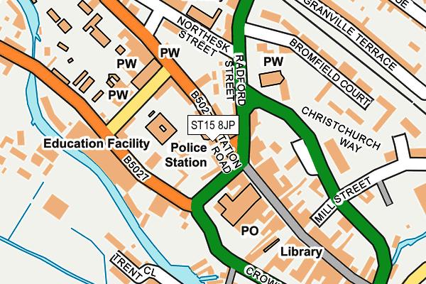 ST15 8JP map - OS OpenMap – Local (Ordnance Survey)