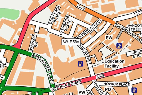 SW1E 5BA map - OS OpenMap – Local (Ordnance Survey)