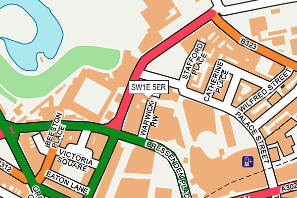 SW1E 5ER map - OS OpenMap – Local (Ordnance Survey)