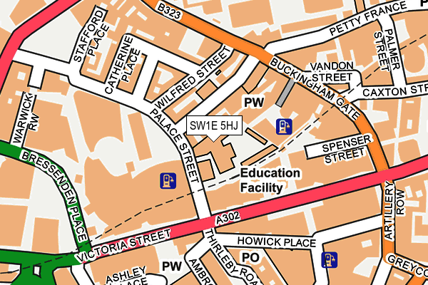 SW1E 5HJ map - OS OpenMap – Local (Ordnance Survey)