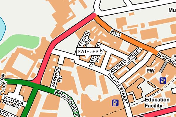 SW1E 5HS map - OS OpenMap – Local (Ordnance Survey)