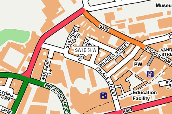 SW1E 5HW map - OS OpenMap – Local (Ordnance Survey)