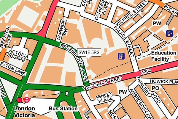 SW1E 5RS map - OS OpenMap – Local (Ordnance Survey)